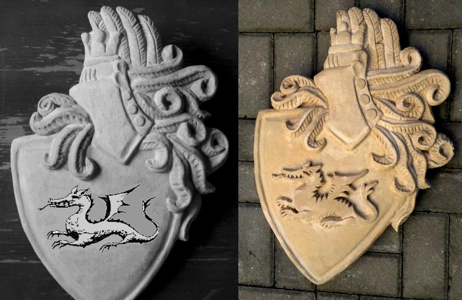 Hradní erb Dragolon drak