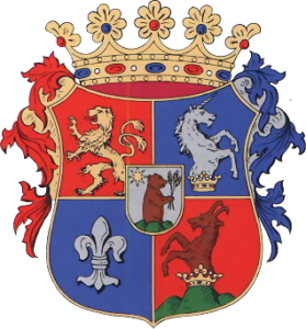 Coat of arms of Szepes County, Kingdom of Hungary, Volné dílo: wikipedia